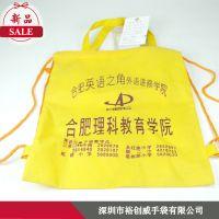 深圳龙岗手袋厂生产拉绳束口袋 双肩漱口嗲 量大从优