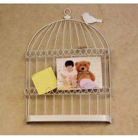乡村田园 欧式仿古 小鸟留言板 鸟笼照片夹 室内装饰壁挂 墙饰