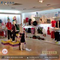 高档服装专卖店童装货架展示 自定义木质展柜 金属童装展示货架
