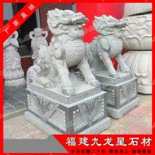 专业承接动物石雕 青石石材麒麟 石雕麒麟含底座