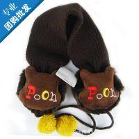 正品迪士尼维尼熊儿童耳罩 保暖宝宝耳暖 腈纶 00419 批发.