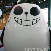 熊猫雕塑 艺术龙猫雕塑厂家 现货定做厂家 玻璃钢聋猫雕像