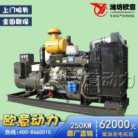 现货供应潍柴250kw柴油发电机组 静音柴油发电机配上海全铜发电机