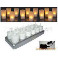 供应12杯LED充电蜡烛灯,电子蜡烛,充电蜡烛灯 电子蜡烛灯 喜庆灯