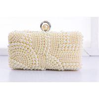 2015新款珍珠新娘礼包,镶钻晚装包外贸晚宴包,厂家直销