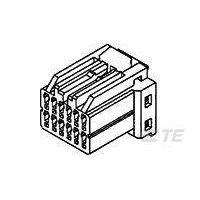 AMP母端子外壳175967-2安普连接器TE代理PBT黑色现货