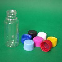 100ml透明塑料尖嘴圆瓶PET圆形塑料瓶尖嘴瓶翻盖瓶