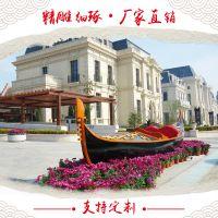 楚风木船厂出售欧式手划木船贡多拉船/景观装饰船