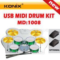 供应爵士鼓、手卷架子鼓MD1008 USB电子鼓