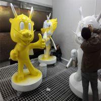 娱乐场所卡通雕塑、品牌造型卡通玻璃钢雕塑、可定制玻璃钢卡通雕塑