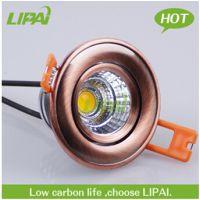 力牌照明厂家直销LED仿古射灯红古铜色COB天花筒射灯欧式美式中式古典射灯