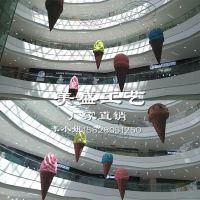 冰淇淋雕塑 玻璃钢泡沫夏季商场美陈中庭挂件装饰工艺品 创意雕塑