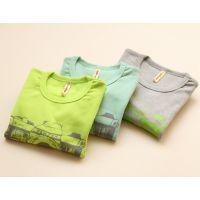 351韩国品牌童装 男童 照相机纯棉长袖T恤 打底衫 F0718-8J1