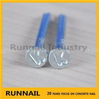 Galvanized Round Concrete Steel Nails, With K Or T Head, Zinc Plated, Yellow Box, 20 Years Factory