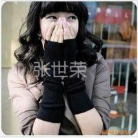 供应特价韩国热卖女生超长款针织无指手套护腕 人手一副手套