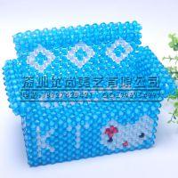 串珠纸巾盒【KT猫沙发长纸巾盒】 家居礼品 手工串珠成品批发