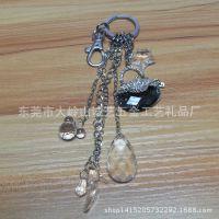 创意个性镶钻女包金属钥匙扣 时尚串链精美挂件 商务赠品东莞批发