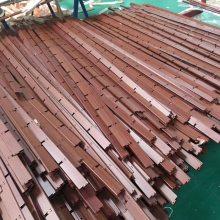 张家口铝格栅装饰厂家生产U型铝格栅木纹格栅三角形格子天花吊顶 多种规格颜色供选择