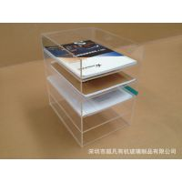 3mm透明 A4/A5亚克力台面资料架/有机玻璃资料架 生产厂家直销