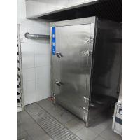 供应大型厨房面食设备 燃气推车式双开门蒸饭柜 益友馒头醒发蒸制机
