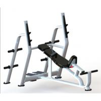 供应奥圣嘉上斜杠铃练习椅ASJ-E846健身房专用大型健身器械座椅可调节不锈钢管材制作