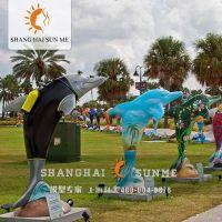 上海升美海豚模型 专业动物模型定制 玻璃钢雕塑 美陈展览摆件
