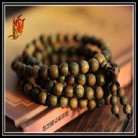 正品佛藏天然素款绿檀佛珠手链 0.8cm108 檀木手串饰品批发