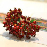 【橡树庄园】欧式高档仿真婚庆婚房套装饰品 蓝莓果实手扎石榴果