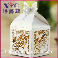 欧式热销镂空喜糖盒 创意蝴蝶花糖果盒 镂空定制回礼盒 婚庆用品