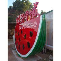 供应广州玻璃钢雕塑 植物西瓜造型招牌雕塑 名图玻璃钢雕塑厂