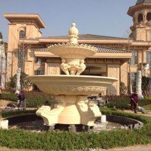 艺宇人造石水池水景大型跌水盆 水帘式流水树脂喷泉楼盘广场景观雕塑定制