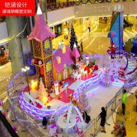 【铠涵工艺品】商场美陈定制-玻璃钢雕塑-圣诞装饰布置雕塑