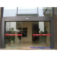 安装电动玻璃门(图)|指纹感应门|番禺灵山感应门