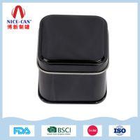 铁盒生产厂家定做小号茶叶铁罐,方形金属包装铁盒定制