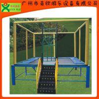 厂家直销广州奇欣儿童蹦床,儿童跳跳床,方形蹦床 物美价廉(QX-117G)