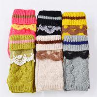 热卖爆款 新款韩版无指手套可爱双层加绒保暖送礼物冬季女士手套