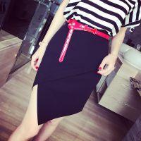小银子2015夏装新款设计感不规则包臀半身裙Q4314