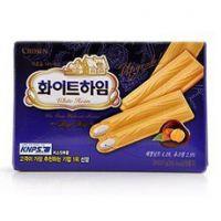 韩国休闲食品批发 可拉奥榛子奶油蛋卷/榛子瓦 一箱30盒