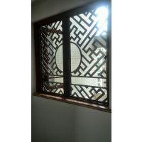 中式别墅花格铜窗花设计生产