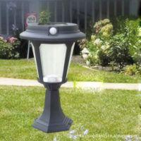 供应墅之景 人体感应太阳能灯 太阳能草坪灯 围墙灯柱灯 太阳能花园灯