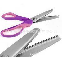 花齿剪刀【厂家直销】批发新品9寸不锈钢花边剪刀裁缝剪牙布剪刀