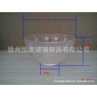 厂家生产玻璃碗 刻花玻璃碗 精致高档 出口玻璃碗 玻璃盘