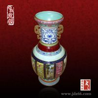 景德镇陶瓷花瓶定制厂家 陶瓷手绘花瓶摆件工艺品