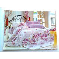 订做纯棉床上用品四件套 全棉美式水洗小碎花绗缝被床盖四件套