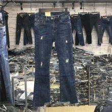 女装库存杂款牛仔裤尾货特价处理 韩版小脚显廋女式外贸大码牛仔长裤