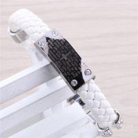 白色手镯 百搭扣时尚皮手链 手环 厂家批发韩版时尚皮革手绳手饰