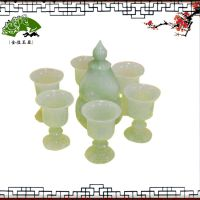 *直销供应7件套夜光杯酒具玉器工艺品jhyq088