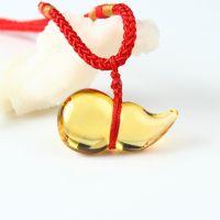 现货正品天然黄水晶葫芦福禄吊坠项链天然水晶时尚饰品男女招财