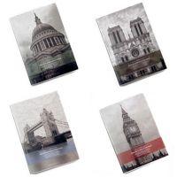 初品设计 欧洲建筑胶套本【关于时间的旅行】笔记本子B5 本子批发
