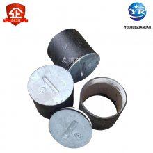 乾胜牌DN50铜盖密封型地漏及清扫口,铸铁丝扣地漏,87型两件套雨水斗